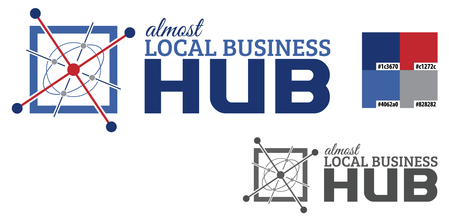 Almost Local Business Hub Logo - Design by Starry Eyes Media