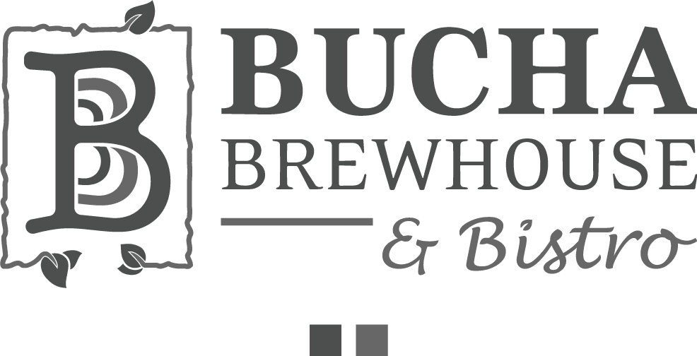 Bucha Brewhouse & Bistro logo in gray
